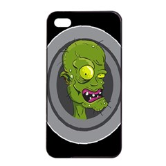 Zombie Pictured Illustration Apple Iphone 4/4s Seamless Case (black)