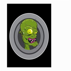 Zombie Pictured Illustration Small Garden Flag (two Sides)