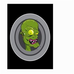 Zombie Pictured Illustration Large Garden Flag (two Sides)
