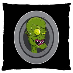 Zombie Pictured Illustration Large Cushion Case (one Side)