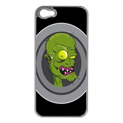 Zombie Pictured Illustration Apple Iphone 5 Case (silver)