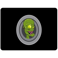 Zombie Pictured Illustration Double Sided Fleece Blanket (large)