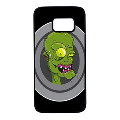 Zombie Pictured Illustration Samsung Galaxy S7 Black Seamless Case