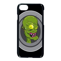 Zombie Pictured Illustration Apple Iphone 7 Seamless Case (black)