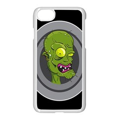 Zombie Pictured Illustration Apple Iphone 8 Seamless Case (white)