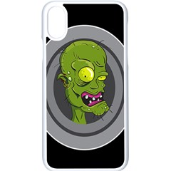 Zombie Pictured Illustration Apple Iphone X Seamless Case (white)