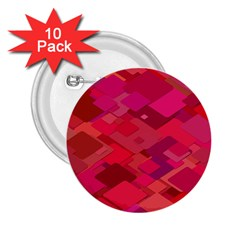 Red Background Pattern Square 2 25  Buttons (10 Pack)