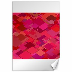 Red Background Pattern Square Canvas 12  X 18