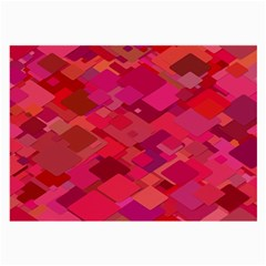 Red Background Pattern Square Large Glasses Cloth