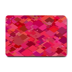 Red Background Pattern Square Small Doormat