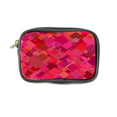 Red Background Pattern Square Coin Purse