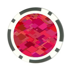 Red Background Pattern Square Poker Chip Card Guard (10 Pack)
