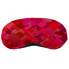 Red Background Pattern Square Sleeping Masks