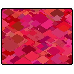 Red Background Pattern Square Fleece Blanket (medium)