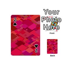 Red Background Pattern Square Playing Cards 54 (mini)