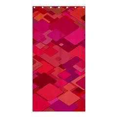 Red Background Pattern Square Shower Curtain 36  X 72  (stall)