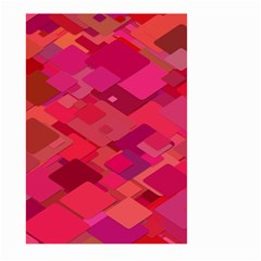 Red Background Pattern Square Large Garden Flag (two Sides)