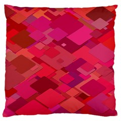 Red Background Pattern Square Large Cushion Case (two Sides)
