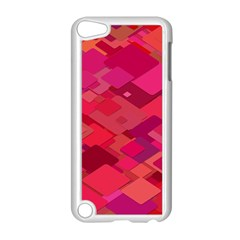 Red Background Pattern Square Apple Ipod Touch 5 Case (white)