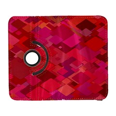 Red Background Pattern Square Galaxy S3 (flip/folio)
