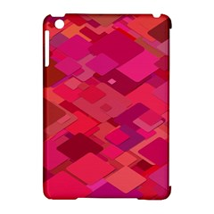 Red Background Pattern Square Apple Ipad Mini Hardshell Case (compatible With Smart Cover)