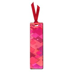 Red Background Pattern Square Small Book Marks