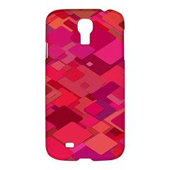 Red Background Pattern Square Samsung Galaxy S4 I9500/i9505 Hardshell Case