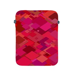 Red Background Pattern Square Apple Ipad 2/3/4 Protective Soft Cases