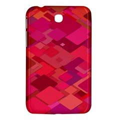 Red Background Pattern Square Samsung Galaxy Tab 3 (7 ) P3200 Hardshell Case