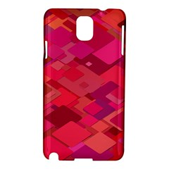 Red Background Pattern Square Samsung Galaxy Note 3 N9005 Hardshell Case