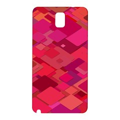 Red Background Pattern Square Samsung Galaxy Note 3 N9005 Hardshell Back Case