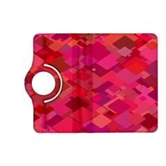 Red Background Pattern Square Kindle Fire Hd (2013) Flip 360 Case