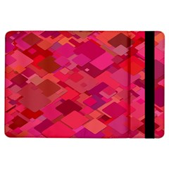 Red Background Pattern Square Ipad Air Flip