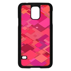 Red Background Pattern Square Samsung Galaxy S5 Case (black)