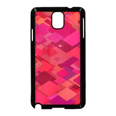 Red Background Pattern Square Samsung Galaxy Note 3 Neo Hardshell Case (black)