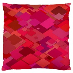 Red Background Pattern Square Standard Flano Cushion Case (one Side)