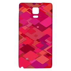 Red Background Pattern Square Galaxy Note 4 Back Case