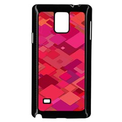 Red Background Pattern Square Samsung Galaxy Note 4 Case (black)