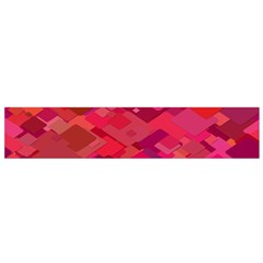Red Background Pattern Square Small Flano Scarf