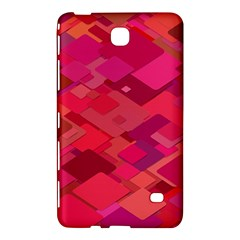 Red Background Pattern Square Samsung Galaxy Tab 4 (7 ) Hardshell Case