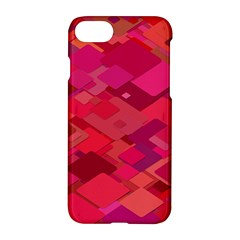 Red Background Pattern Square Apple Iphone 8 Hardshell Case