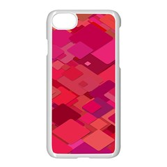 Red Background Pattern Square Apple Iphone 8 Seamless Case (white)