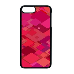 Red Background Pattern Square Apple Iphone 8 Plus Seamless Case (black)
