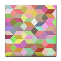 Mosaic Background Cube Pattern Tile Coasters