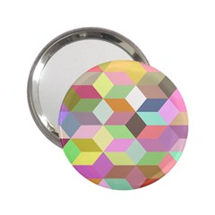 Mosaic Background Cube Pattern 2 25  Handbag Mirrors