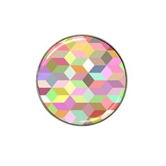 Mosaic Background Cube Pattern Hat Clip Ball Marker (10 Pack)