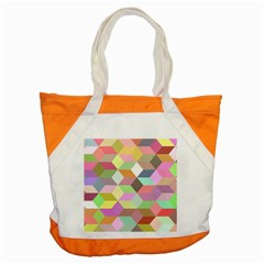 Mosaic Background Cube Pattern Accent Tote Bag