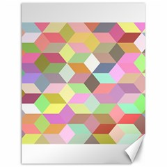 Mosaic Background Cube Pattern Canvas 12  X 16