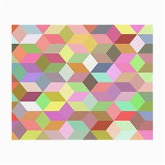 Mosaic Background Cube Pattern Small Glasses Cloth (2 Side)