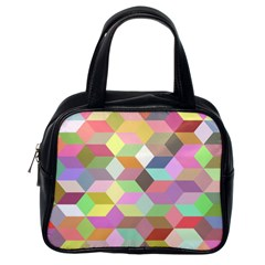 Mosaic Background Cube Pattern Classic Handbags (one Side)